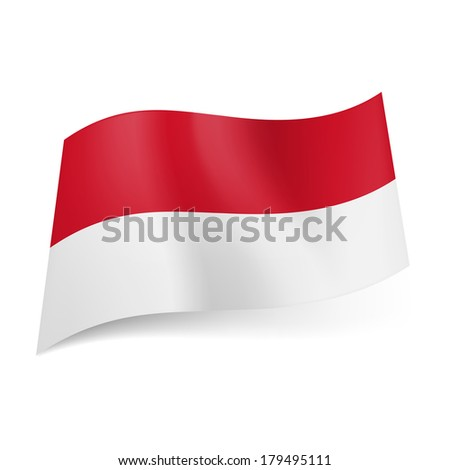 National flag of Monaco: red and white horizontal stripes