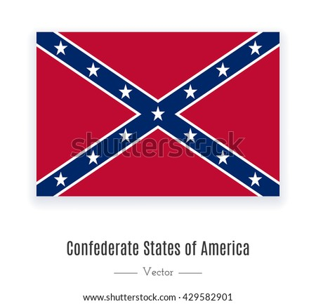 National flag of the Confederate States of America. Flag of Confederate. Flag of Confederate vector. Flag of Confederate eps. Flag of Confederate illustration. Flag of Confederate icon. Confederate ui - stock vector