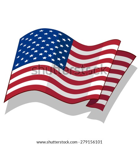 National Flag of the USA. Vector. - stock vector