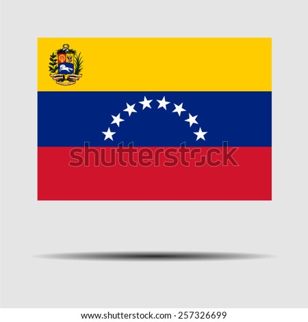 National flag of Venezuela - stock vector