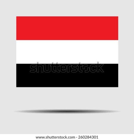 National flag of Yemen - stock vector