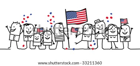 national holiday - United States - stock vector