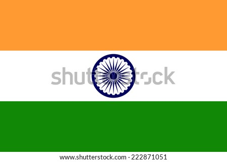 National vector flag of India. - stock vector