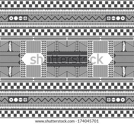 native american art illustration - stock vector