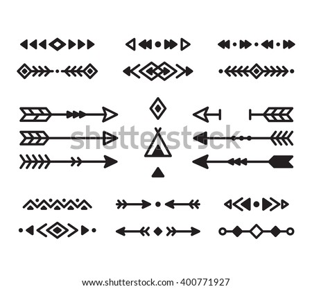 Native american indian design elements set stock vector for American indian design and decoration