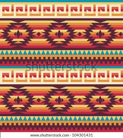 Native american pattern - stock vector