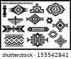 Native American vector set - stock vector