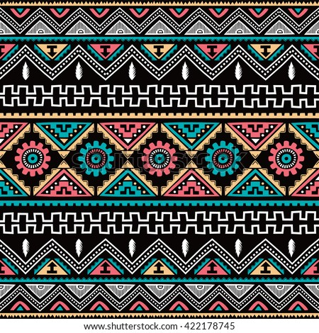 native ethnic seamless pattern theme vector art illustration - stock vector