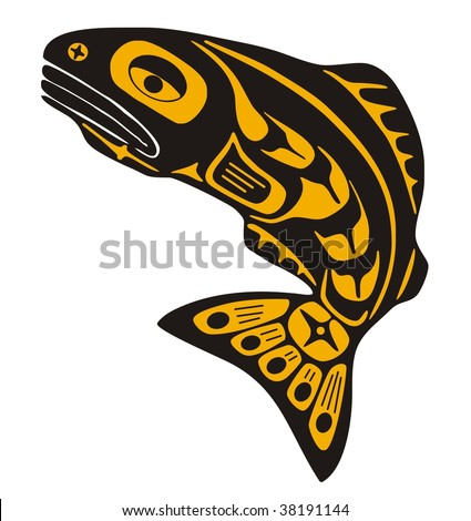 Native Fish Vector Stock Vector