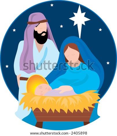 Jesus mary and joseph nativity