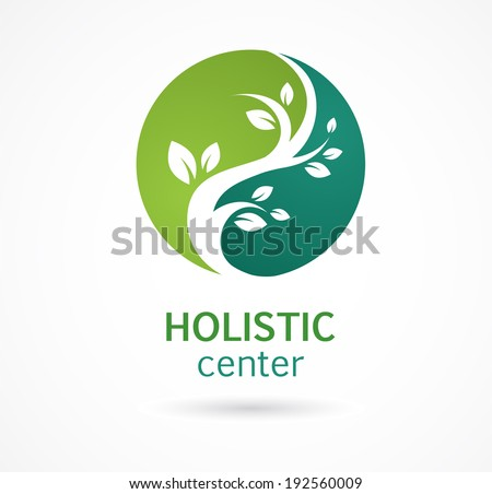 Natural Alternative Herbal Medicine and Healthcare icon and element - stock vector