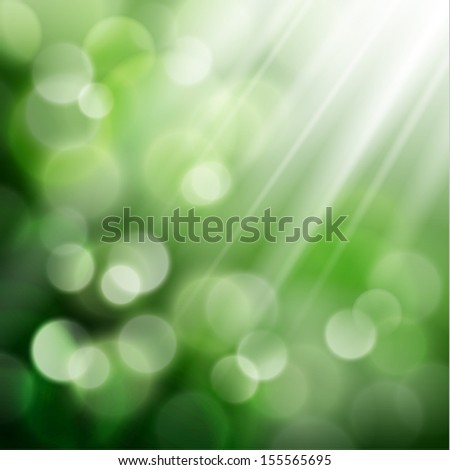 Natural background with defocused lights - eps10 - stock vector