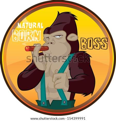 Natural born boss - stock vector