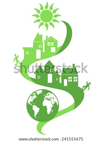 natural community eco background - stock vector