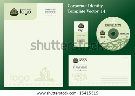 Natural Corporate Vector Business Template - stock vector