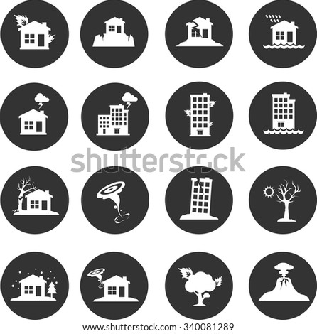 Natural Disaster icon - stock vector