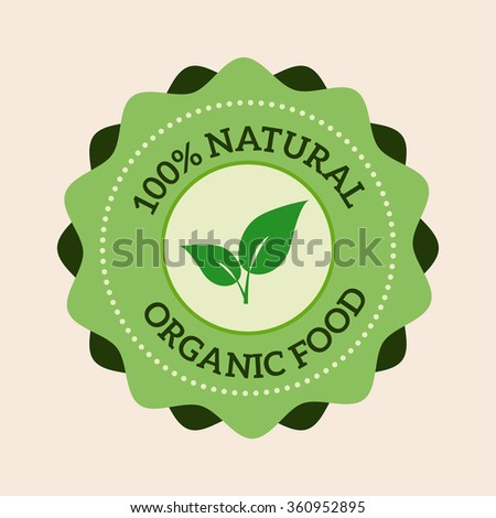 Natural eco organic product label badge vector icon. Badge eco emblem logo. Eco product label badge design elements. Badge natural food icon isolated. Farm product healthy food logo badge design - stock vector