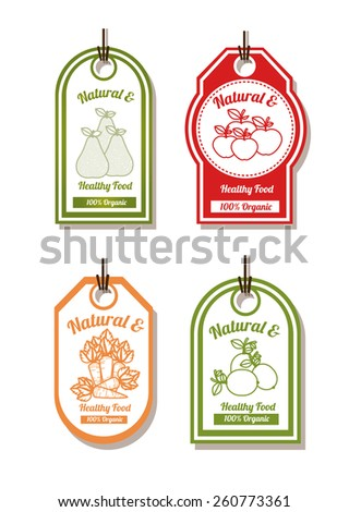 Natural Food design, vector illustration - stock vector