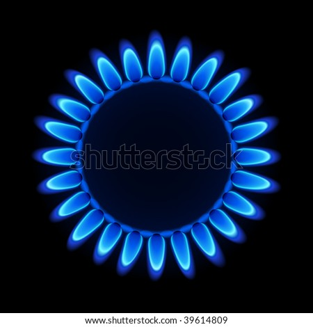 Natural gas flame. Vector.
