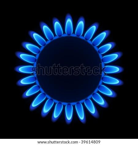 Natural gas flame. Vector. - stock vector