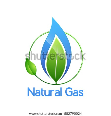 Natural Gas Logo Isolated On White Stockvector Rechtenvrij