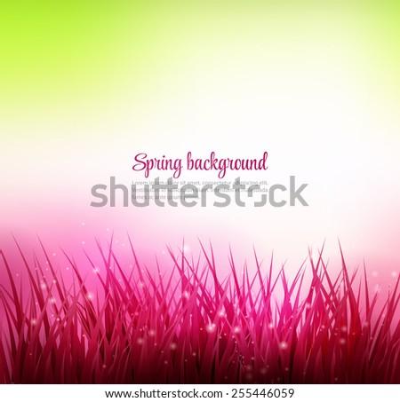 Natural grass background. Vector illustration.  - stock vector