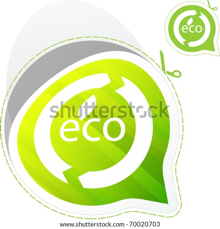 Natural label for sale. Vector illustration. - stock vector