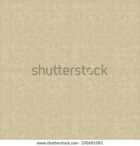 Natural linen seamless pattern. Natural linen striped uncolored textured sacking burlap background - stock vector