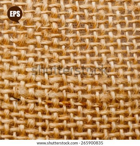 Natural linen texture background - stock vector