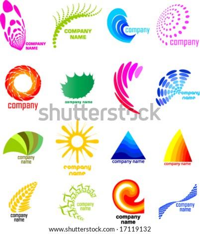 natural logo collection - stock vector