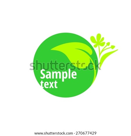 Natural Made Bio Logo Concept - stock vector