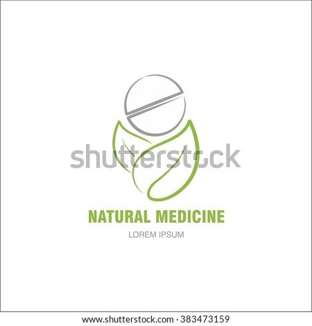 Natural medicine - stock vector