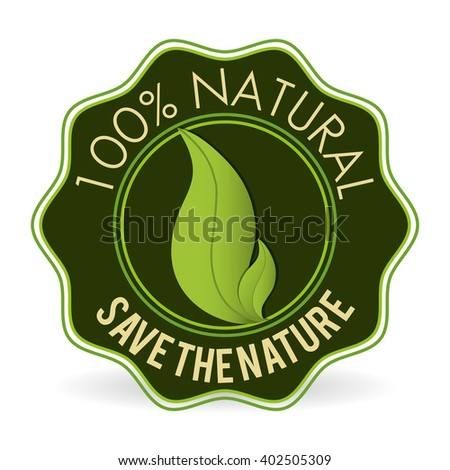 Natural product design , vector illustration