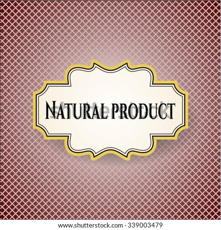 Natural Product poster or banner - stock vector