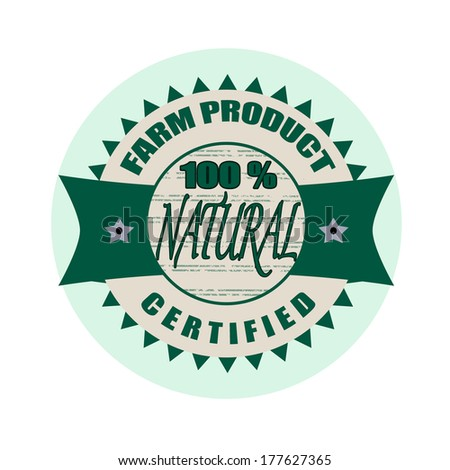 natural stamp on whit vector illustration