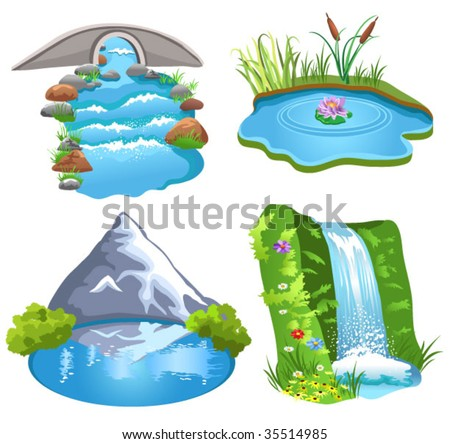 natural water - stock vector