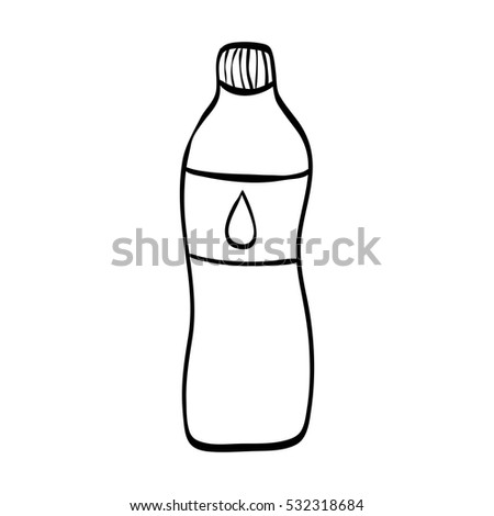 Natural water bottle icon vector illustration graphic design