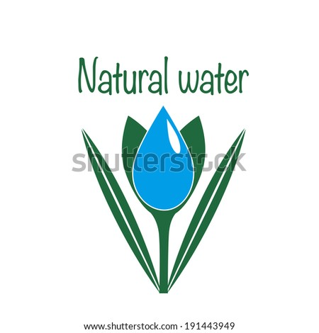 Natural water icon. - stock vector