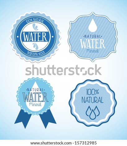 natural water over blue background vector illustration