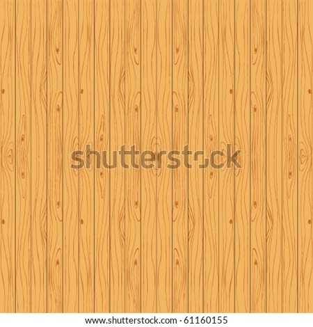 Natural wooden background. Seamless vector planks material. - stock vector