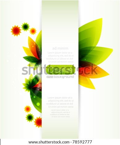 Nature abstract background - stock vector