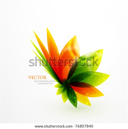 Nature abstract floral background - stock vector