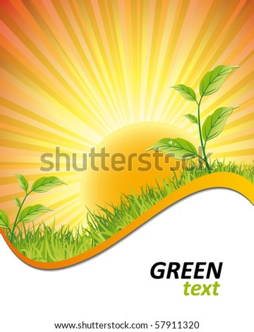 nature background - stock vector