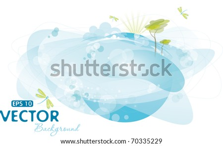 Nature background, eps-10 - stock vector