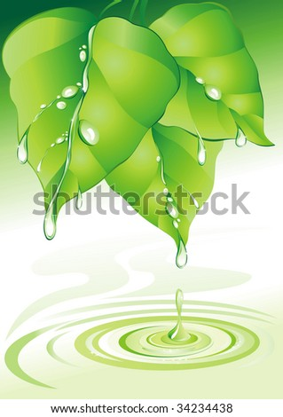 Nature background. (vector illustration)
