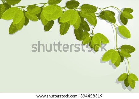 Nature background with ivy leaves - stock vector