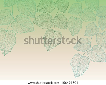 Nature background with leave vector eps 10 - stock vector