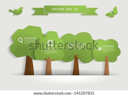 Nature banner idea concept, Vector illustration modern template design - stock vector
