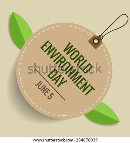 Nature banner. World environment day concept. Vector illustration - stock vector