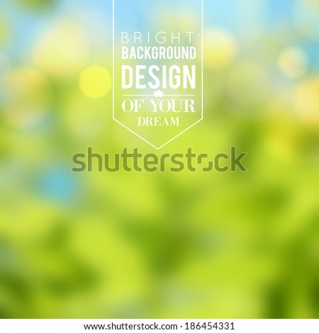 Nature color background. Vector illustration. - stock vector